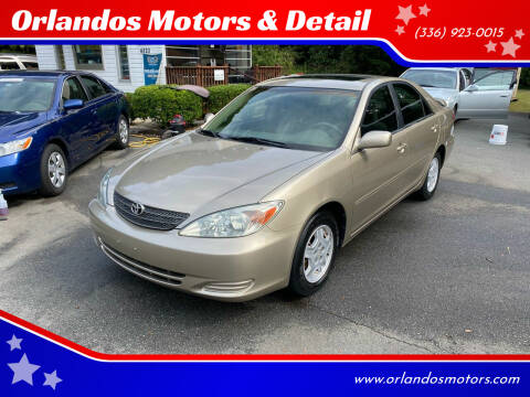 2003 Toyota Camry for sale at Orlandos Motors & Detail in Winston Salem NC