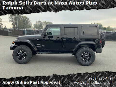 2016 Jeep Wrangler Unlimited for sale at Ralph Sells Cars at Maxx Autos Plus Tacoma in Tacoma WA
