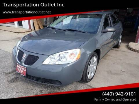 2008 Pontiac G6 for sale at Transportation Outlet Inc in Eastlake OH