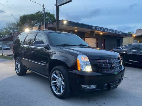 2013 Cadillac Escalade for sale at Texas Luxury Auto in Houston TX