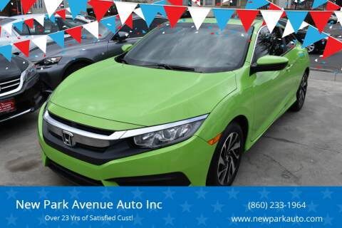 2016 Honda Civic for sale at New Park Avenue Auto Inc in Hartford CT