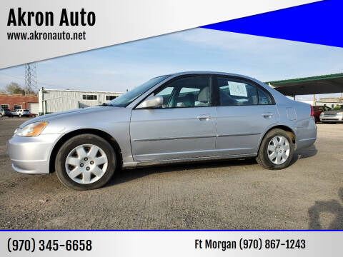 2002 Honda Civic for sale at Akron Auto - Fort Morgan in Fort Morgan CO