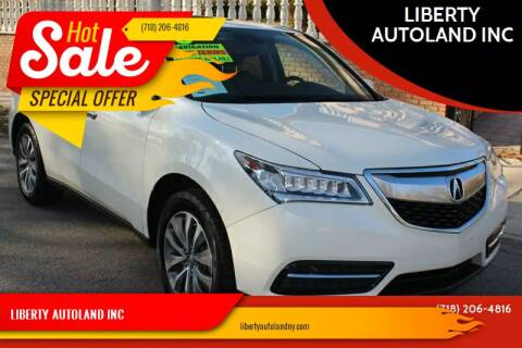 2015 Acura MDX for sale at LIBERTY AUTOLAND INC - LIBERTY AUTOLAND II INC in Queens Villiage NY