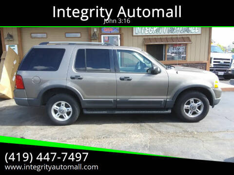 2003 Ford Explorer for sale at Integrity Automall in Tiffin OH