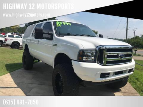 2004 Ford Excursion for sale at HIGHWAY 12 MOTORSPORTS in Nashville TN