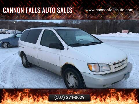 2000 Toyota Sienna for sale at Cannon Falls Auto Sales in Cannon Falls MN