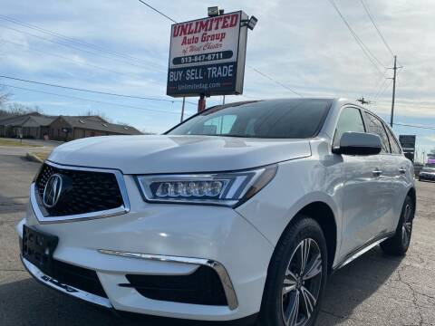 2018 Acura MDX for sale at Unlimited Auto Group in West Chester OH