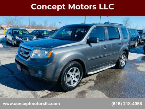 2011 Honda Pilot for sale at Concept Motors LLC in Holland MI