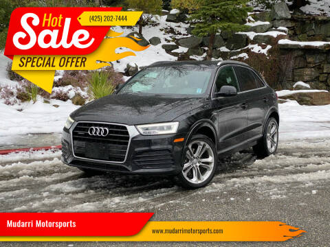 2016 Audi Q3 for sale at Mudarri Motorsports in Kirkland WA