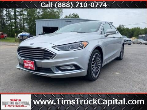 2017 Ford Fusion for sale at TTC AUTO OUTLET/TIM'S TRUCK CAPITAL & AUTO SALES INC ANNEX in Epsom NH