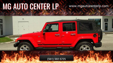 2013 Jeep Wrangler Unlimited for sale at MG Auto Center LP in Lake Park FL