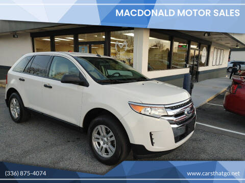 2011 Ford Edge for sale at MacDonald Motor Sales in High Point NC