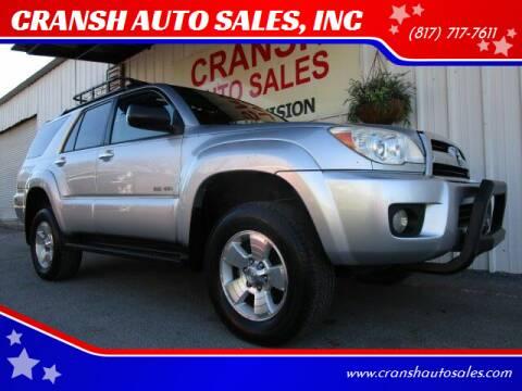 2006 Toyota 4Runner for sale at CRANSH AUTO SALES, INC in Arlington TX
