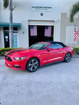 2016 Ford Mustang for sale at AUTOSPORT MOTORS in Lake Park FL