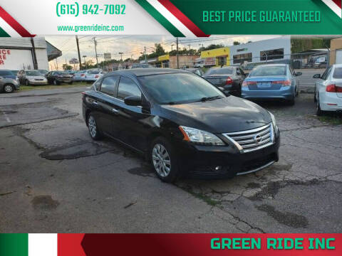 2013 Nissan Sentra for sale at Green Ride Inc in Nashville TN