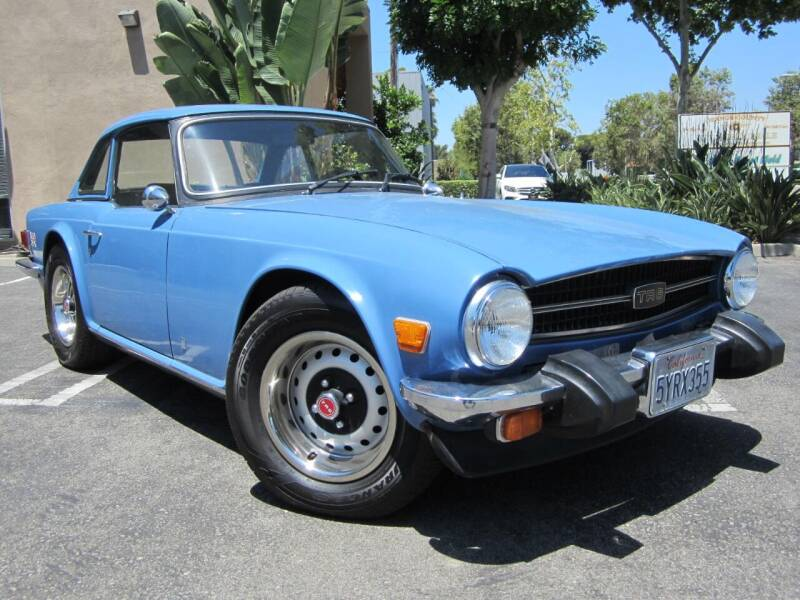 1976 Triumph TR6 for sale at ORANGE COUNTY AUTO WHOLESALE in Irvine CA