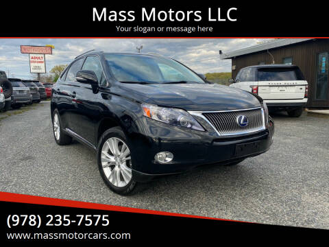 2010 Lexus RX 450h for sale at Mass Motors LLC in Worcester MA