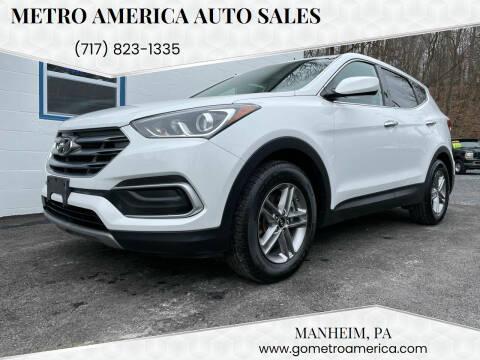 2018 Hyundai Santa Fe Sport for sale at METRO AMERICA AUTO SALES of Manheim in Manheim PA