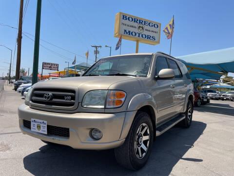 2003 Toyota Sequoia for sale at Borrego Motors in El Paso TX