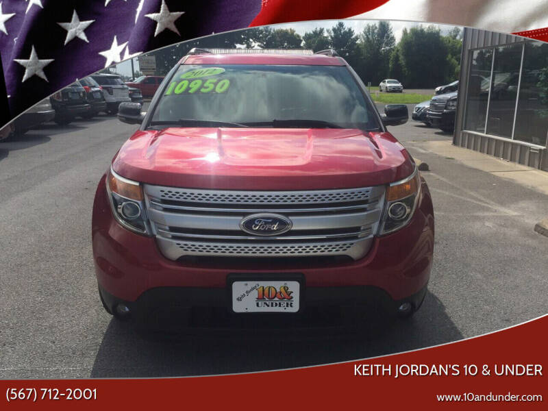 2012 Ford Explorer for sale at KEITH JORDAN'S 10 & UNDER in Lima OH