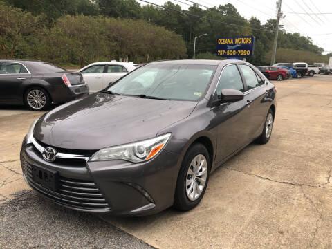 2016 Toyota Camry for sale at Oceana Motors in Virginia Beach VA