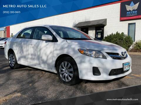 2012 Toyota Corolla for sale at METRO AUTO SALES LLC in Blaine MN