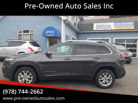 2015 Jeep Cherokee for sale at Pre-Owned Auto Sales Inc in Salem MA