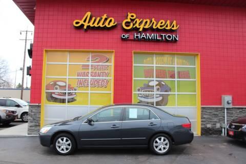 2005 Honda Accord for sale at AUTO EXPRESS OF HAMILTON LLC in Hamilton OH