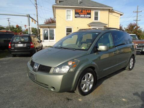2005 Nissan Quest for sale at Top Gear Motors in Winchester VA