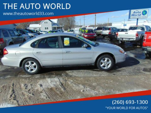 2003 Ford Taurus for sale at THE AUTO WORLD in Churubusco IN