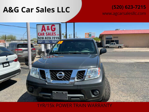 2012 Nissan Frontier for sale at A&G Car Sales  LLC in Tucson AZ