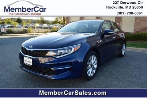 2016 Kia Optima for sale at MemberCar in Rockville MD