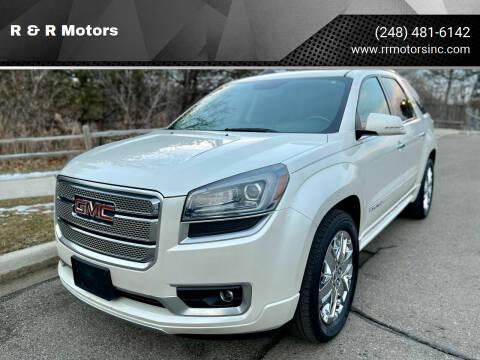 2013 GMC Acadia for sale at R & R Motors in Waterford MI