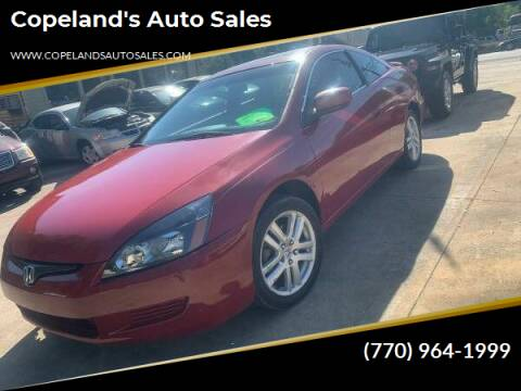 2004 Honda Accord for sale at Copeland's Auto Sales in Union City GA