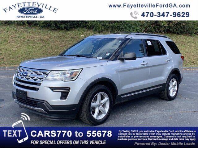 2018 Ford Explorer for sale at FAYETTEVILLEFORDFLEETSALES.COM in Fayetteville GA
