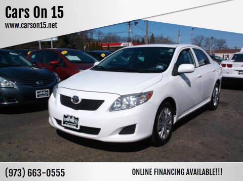 2010 Toyota Corolla for sale at Cars On 15 in Lake Hopatcong NJ