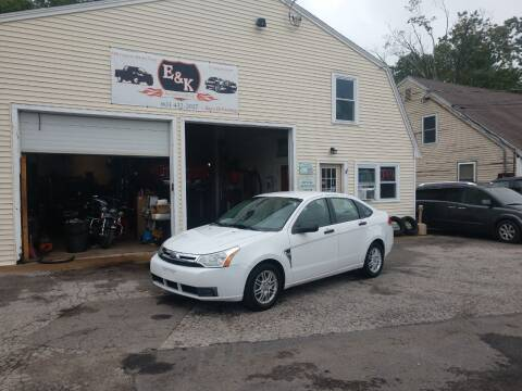2008 Ford Focus for sale at E & K Automotive in Derry NH