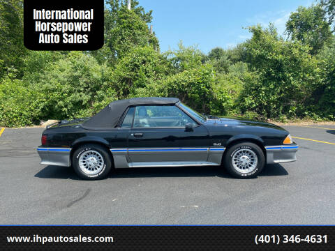 1989 Ford Mustang for sale at International Horsepower Auto Sales in Warwick RI