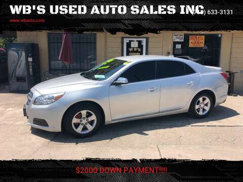 2013 Chevrolet Malibu for sale at WB'S USED AUTO SALES INC in Houston TX