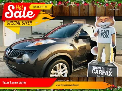 2012 Nissan JUKE for sale at Texas Luxury Auto in Cedar Hill TX