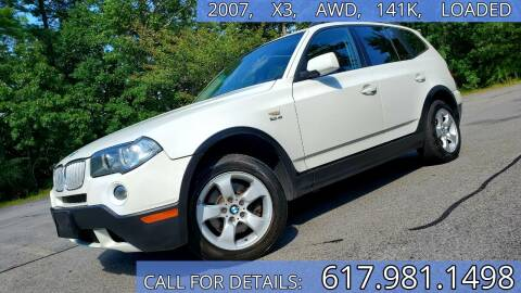 2007 BMW X3 for sale at Wheeler Dealer Inc. in Acton MA