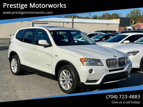 2014 BMW X3 for sale at Prestige Motorworks in Concord NC