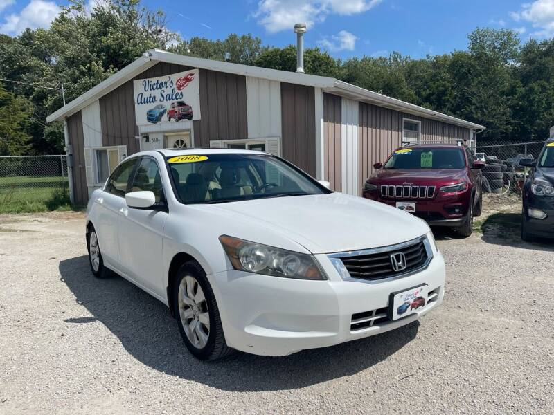 2008 Honda Accord for sale at Victor's Auto Sales Inc. in Indianola IA