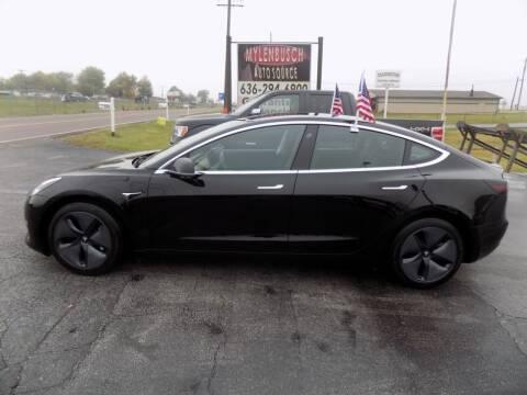 2019 Tesla Model 3 for sale at MYLENBUSCH AUTO SOURCE in O` Fallon MO