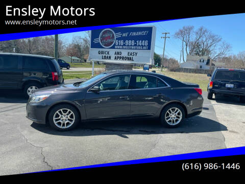 2013 Chevrolet Malibu for sale at Ensley Motors in Allendale MI