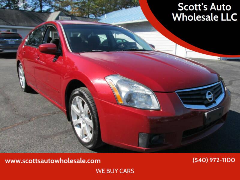 2008 Nissan Maxima for sale at Scott's Auto Wholesale LLC in Locust Grove VA