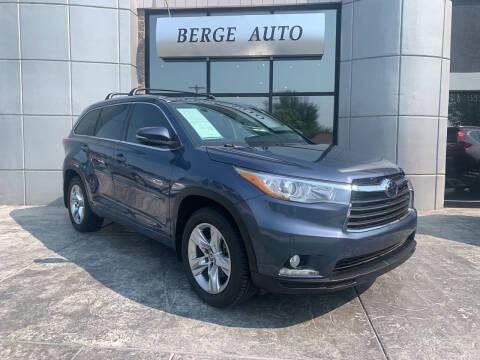 2016 Toyota Highlander for sale at Berge Auto in Orem UT