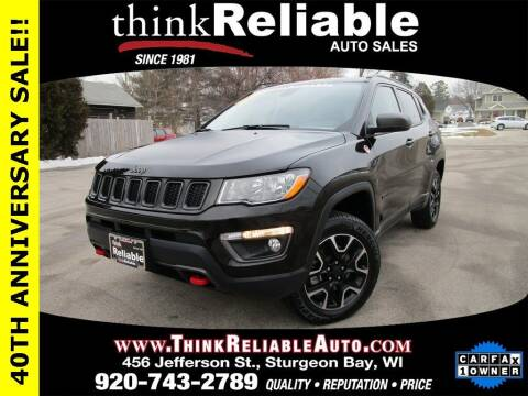 2020 Jeep Compass for sale at RELIABLE AUTOMOBILE SALES, INC in Sturgeon Bay WI