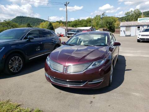 2013 Lincoln MKZ for sale at Greens Auto Mart Inc. in Wysox PA