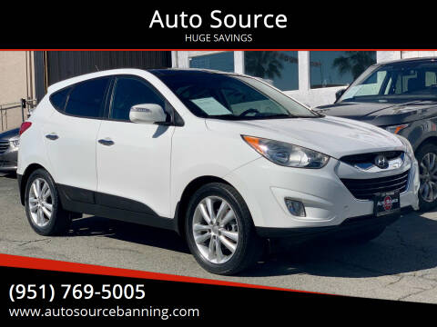 2013 Hyundai Tucson for sale at Auto Source in Banning CA